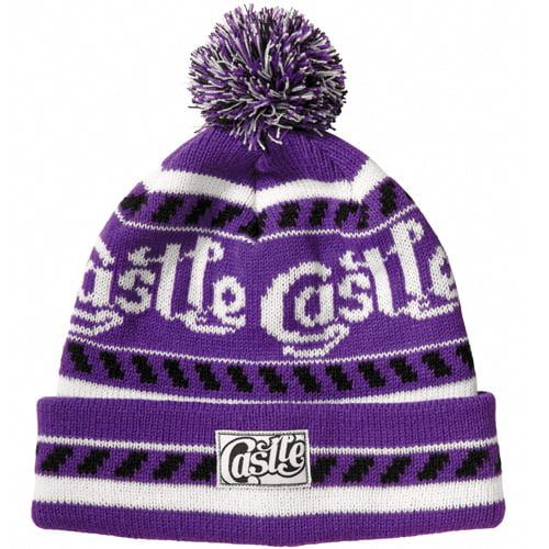 Castle X Racewear Margo Womens Beanie Hat Purple