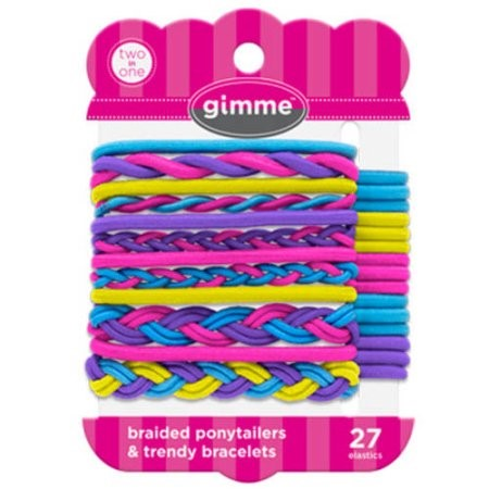 Gimme Braided Ponytailers & Trendy Bracelets, 27 Ct