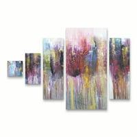 Trademark Fine Art 'Morados I' Canvas Art by Leticia Herrera