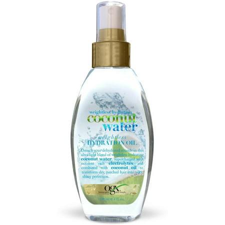 Hydration Spray - 3 Pack - OGX Coconut Water Weightless Hydration Oil Spray 4 oz