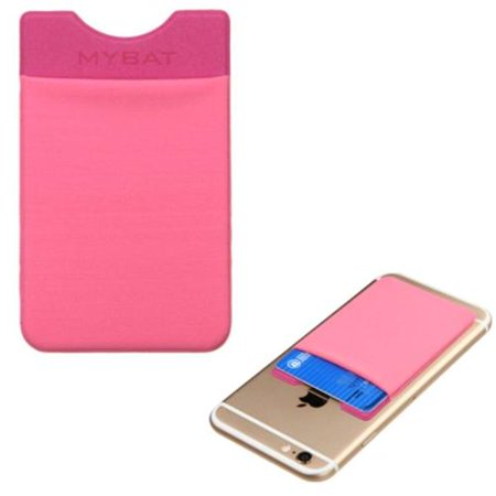 Insten 3M Adhesive Card Pouch Sticker Credit Card Holder Sleeve Cover for Mobile Phone Smartphone iPhone X 8 7 6 6s Plus 5s SE LG G6 G6+ Tribute HD Stylo 3 2 Stylus Samsung Galaxy S8 S7 Note 8 - Pink