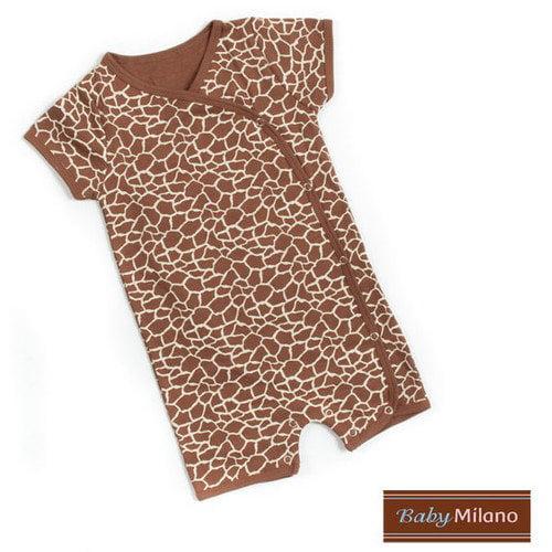 Baby Milano Kimono Infant Bodysuit in Giraffe Print