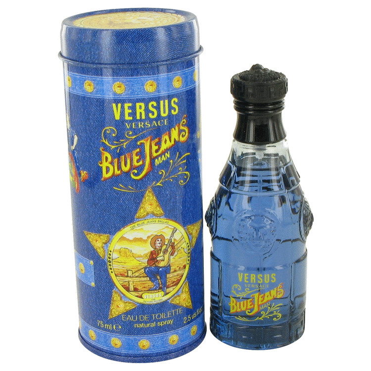 Versace BLUE JEANS Eau De Toilette Spray (New Packaging) for Men 2.5 oz