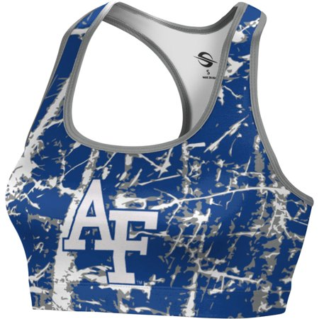 Prosphere Womens U S  Air Force Academy Distressed Sports Bra