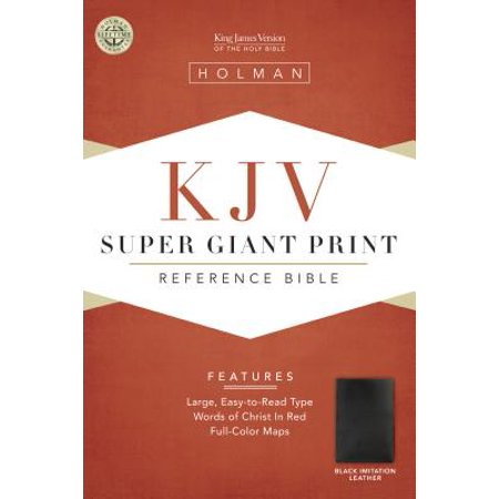 KJV Super Giant Print Reference Bible, Black Simulated (Sewn Simulated Leather)