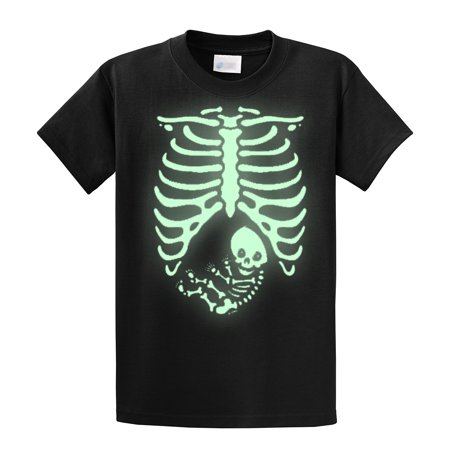 Halloween T-Shirt Pregnant Skeleton Baby](Maternity T Shirt Halloween Skeleton)