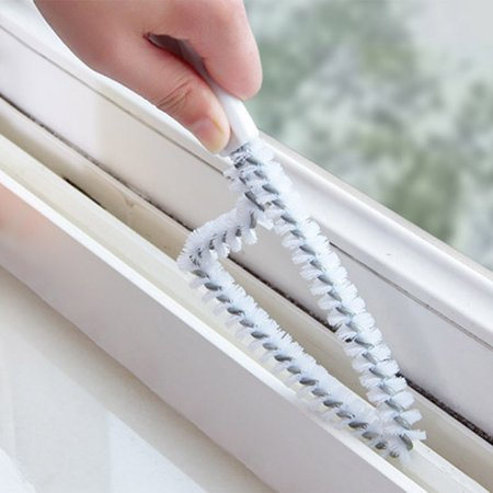 Crevice Cleaning Brush Window Track Cleaning Brush Bathroom Kitchen Window Flume Clean
