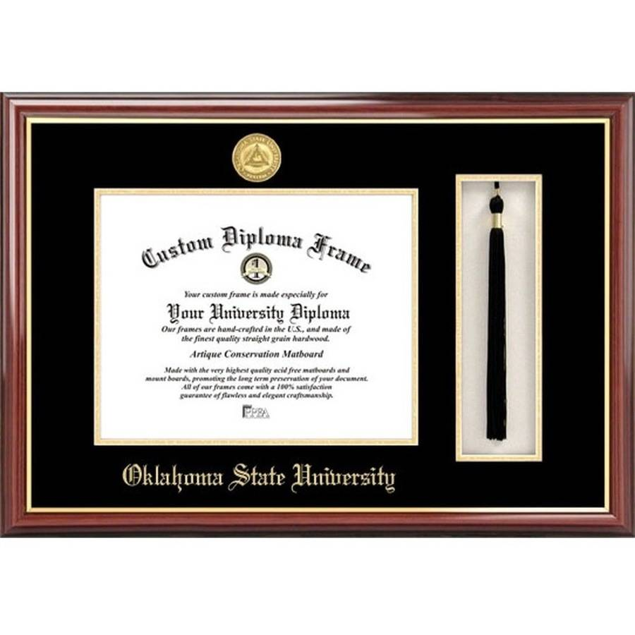 "Oklahoma State University 8.5"" x 11"" Tassel Box and Diploma Frame"
