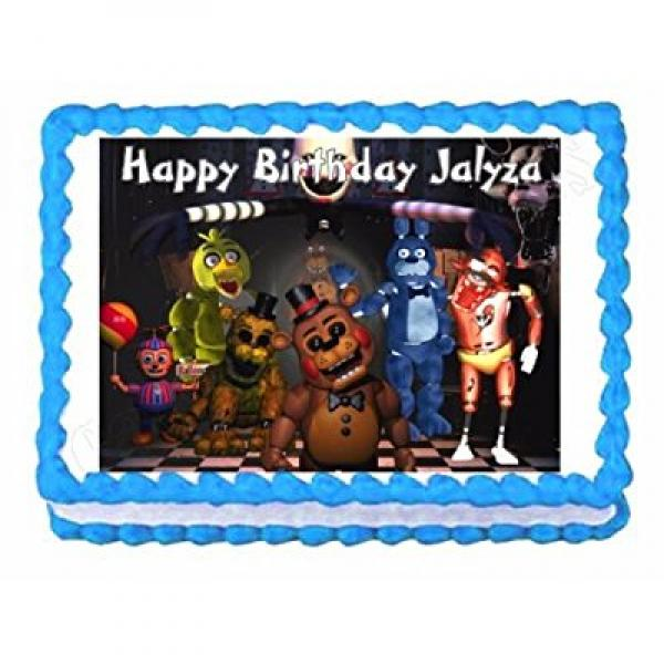 Five nights at Freddys FNaF party edible cake image cake topper