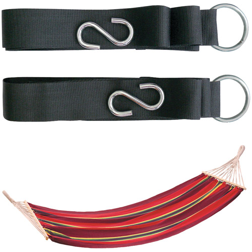 Stansport Bahamas Cotton Hammock With 2 Tree Straps, Red by Stansport