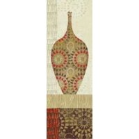 Spice Stripe Vessels Panel III Canvas Art - Wild Apple Portfolio (8 x 24)