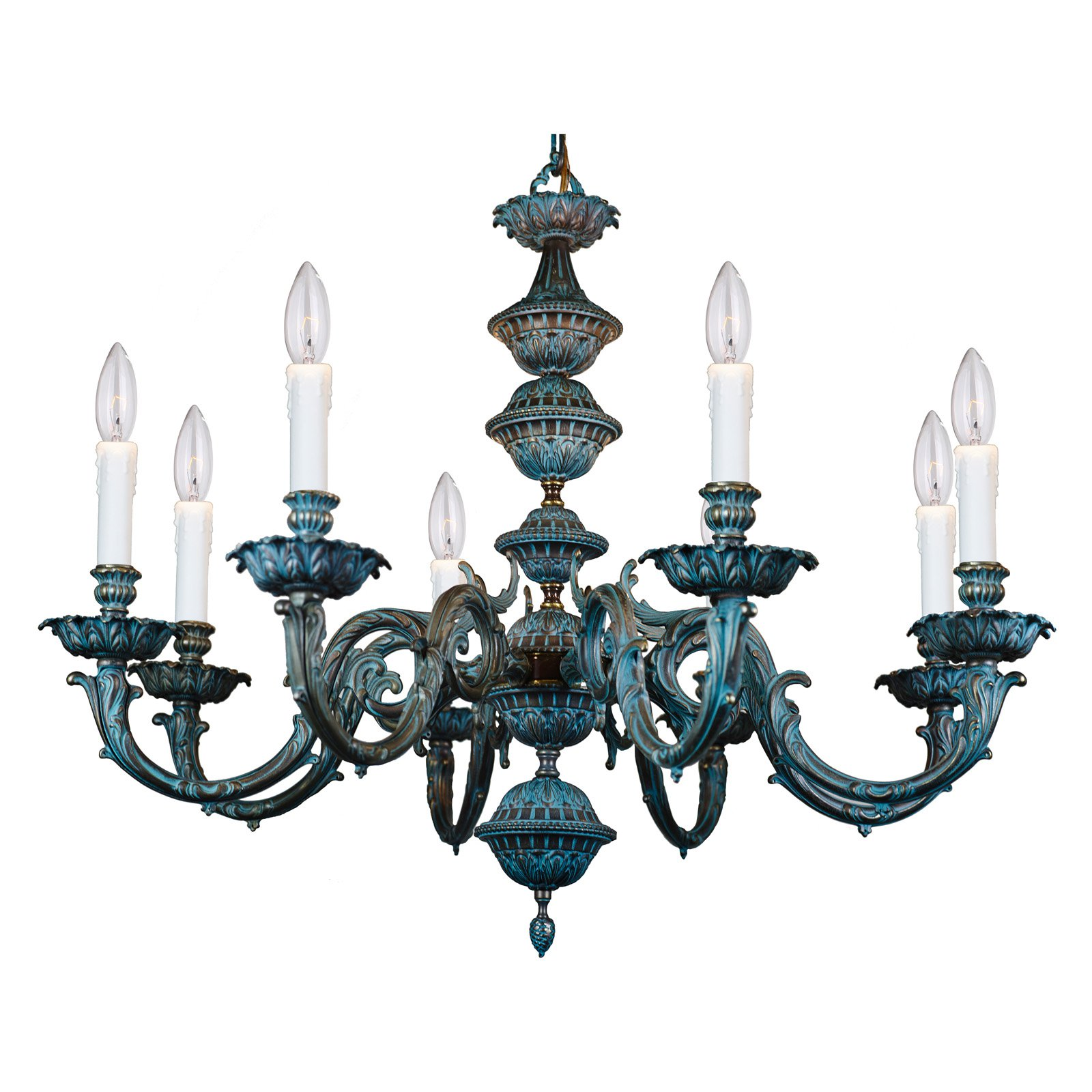Crystorama 2408-BP Chandelier by Crystorama