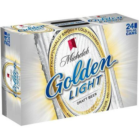 Michelob Golden Light Draft Beer 24 Pack 12 Fl Oz