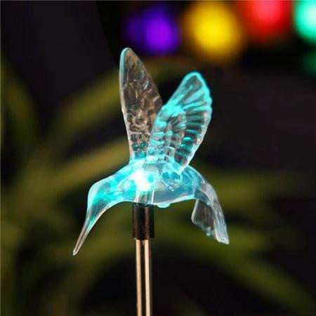 Candle Choice Pw009c50727s Garden Stake Light With Vivid Figurine  44  Hummingbird   Led Garden Light