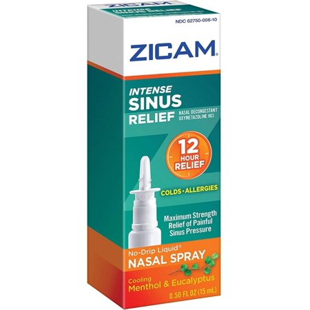 6 Pack - Zicam Intense Sinus Relief Liquid Nasal Spray 0.50