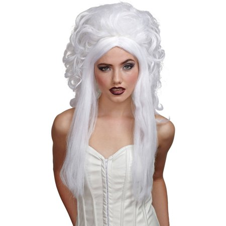 White Spirit Nightmare Wig Adult Halloween Accessory - Cheap Wigs For White Women