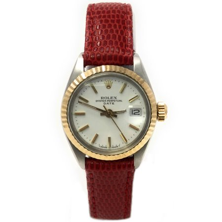 Date 6917 White Stick dial and an 18kt Yellow Gold Fluted Bezel (Certified - Bezel White Stick Dial