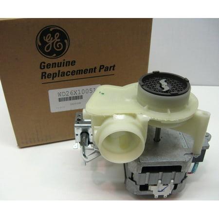 Wd26x10051 ge hotpoint dishwasher motor pump mechanism for Ge dishwasher motor replacement