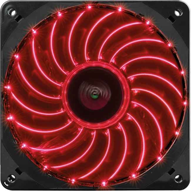Enermax UCTVS12P-R T.B.Vegas Single 12cm Red LED Case Fan - 1 x 120 mm - 1800 rpm - Twister Bearing