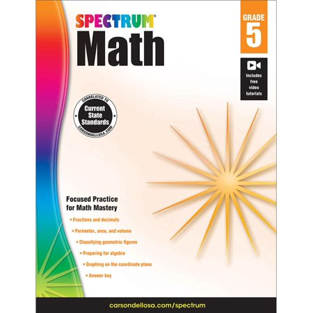 Riverdeep Math (Spectrum Spectrum Math Workbook, Grade 5 160 pages )