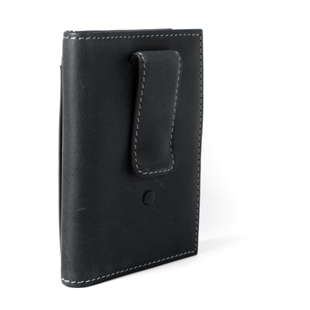 c160086acd34 ID Stronghold - ID Stronghold RFID Leather Wallet Vertical Money Clip with  ID - Best RFID Blocking Wallet - Black - Walmart.com