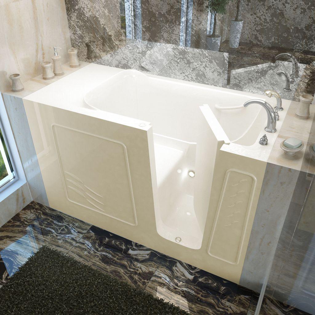 Meditub 30x60 Right Drain Biscuit Soaking Walk-In Bathtub