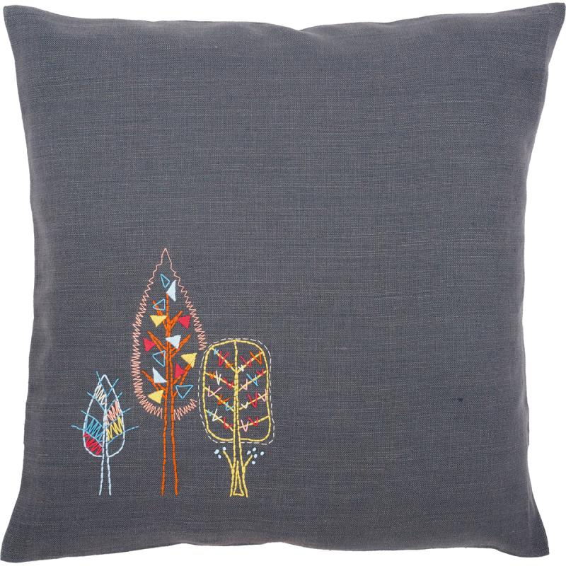 """Stylized Trees Cushion Stamped Embroidery Kit, 16"""" x 16"""""""