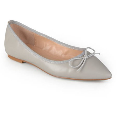Gold Ballet Flats Toddler (Womens Classic Bow Pointed Toe Casual Ballet)