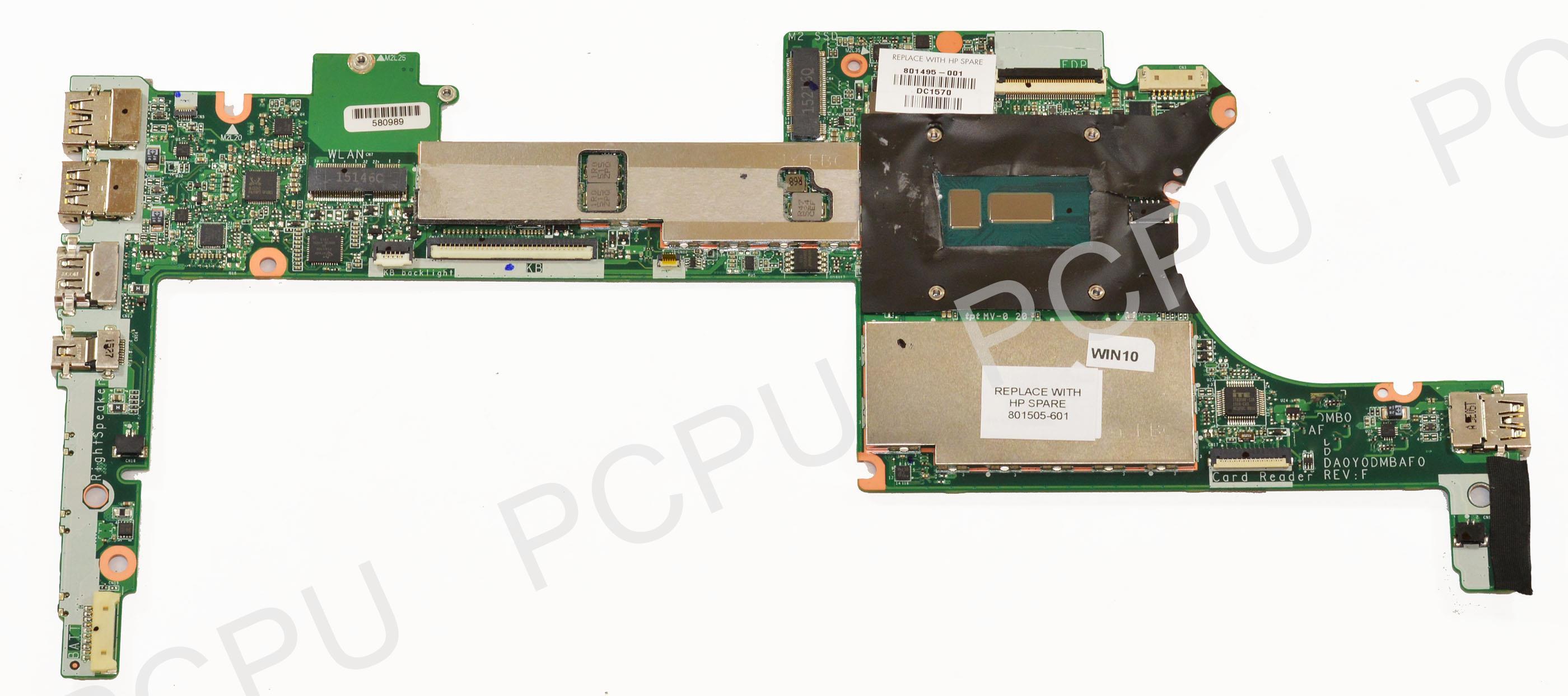 801505-601 HP Spectre X360 13-4000 Laptop Motherboard 8GB w  Intel i7-5500U 2.4GHz CPU by HP