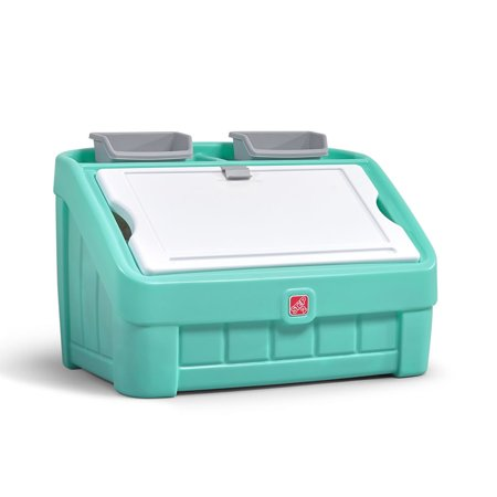 Step2 2-in-1 Toy Box & Art Lid - Mint Green - Chest Box