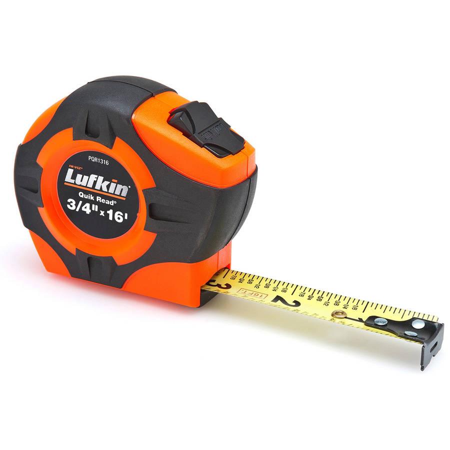 "Lufkin PQR1316 Orange Power Tape Measure 3/4"" x 16'"
