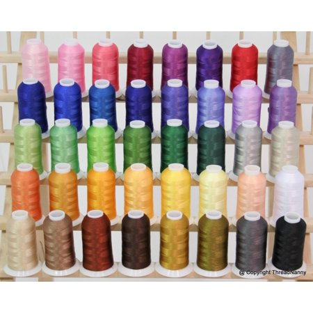 - New Brother 40 Colors Embroidery Thread Set 40wt Polyester Threads from ThreadNanny