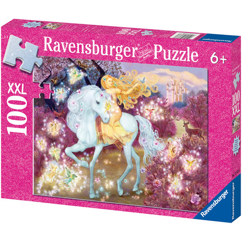 Ravensburger Riding in the Woods Glitter Puzzle, 100 Pieces