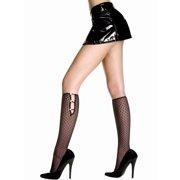 Diamond Design Opaque Knee Hi Nylon Costume Stocking Hosiery