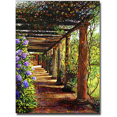 "Trademark Art ""Pergola Walkway"" Canvas Wall Art by David Lloyd Glover"