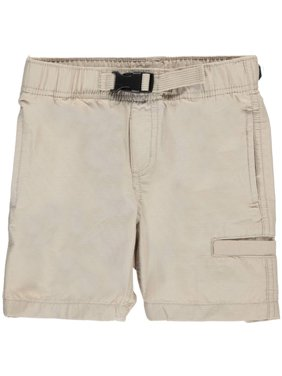 "Nautica Little Boys' ""Welted Grid"" Shorts (Sizes 4 - 7) - gray, 6"