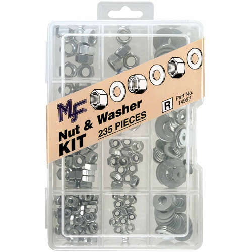 Midwest Fastener Corp 235pc  Nut and Washer Assortment Kit