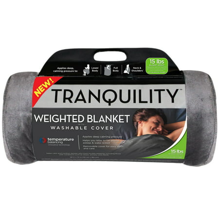 Tranquility Temperature Balancing Weighted Blanket with Washable Cover, 15 lbs