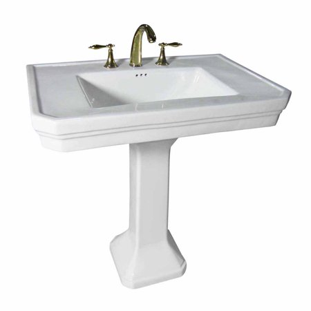 Large White Sink : Large White Victorian Pedestal Sink 8