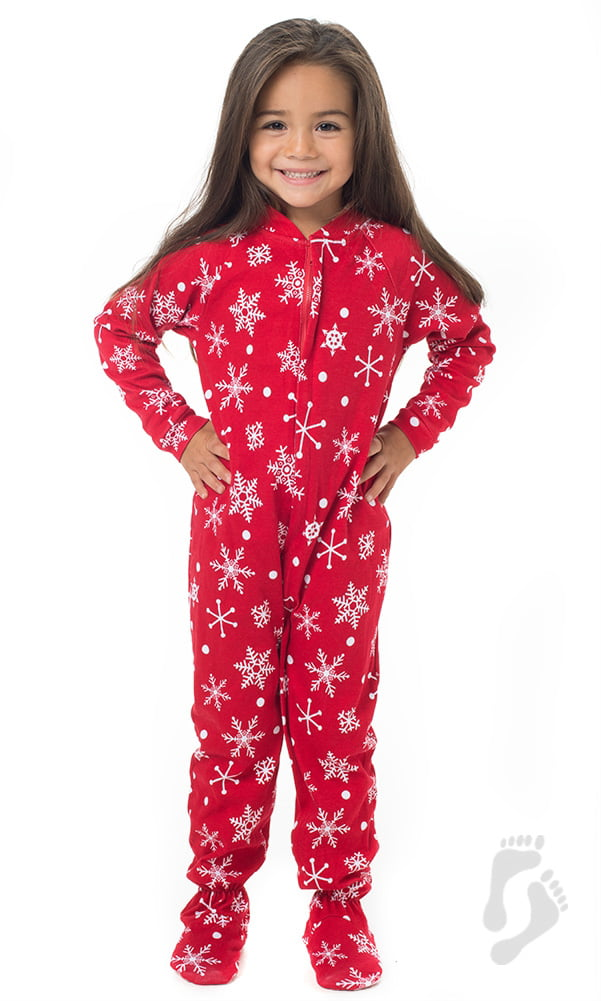 Footed Pajamas - Footed Pajamas - White Christmas Toddler Cotton Onesie -  Walmart.com 1950e1e90a16