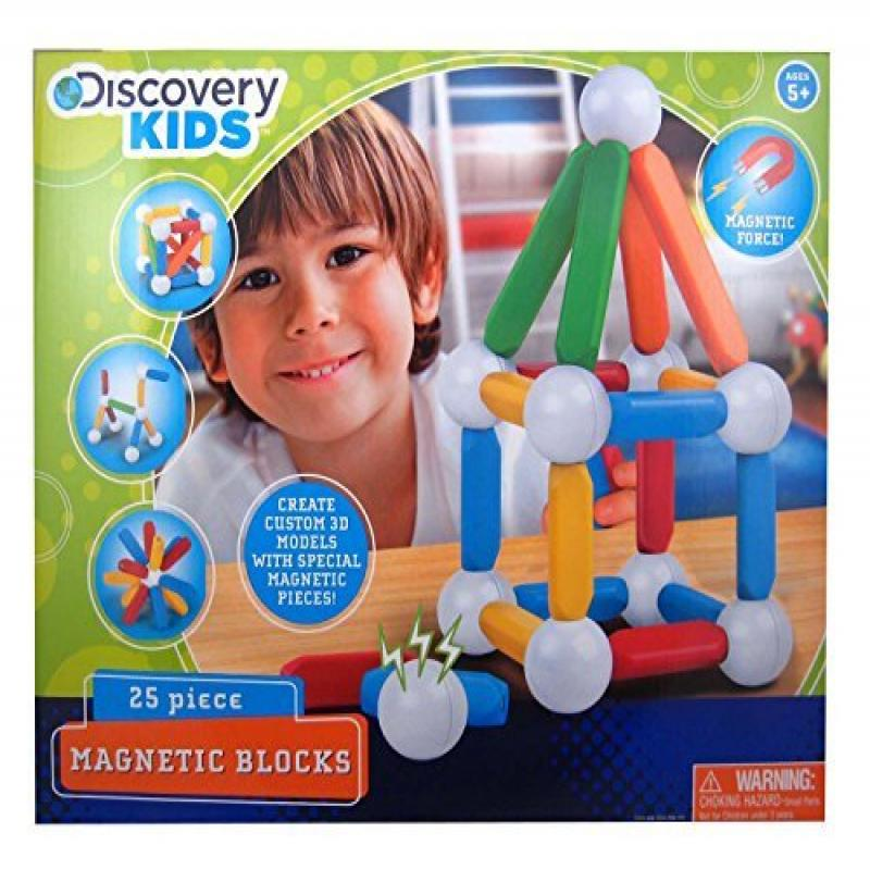 MerchSource Discovery Kids 25 Piece Magnetic Blocks