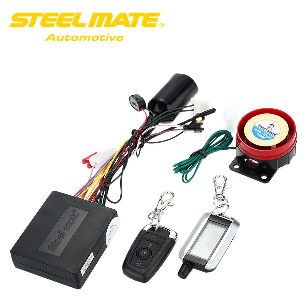 Steelmate 986XO 2 Way Motorcycle Alarm System Remote Engi...