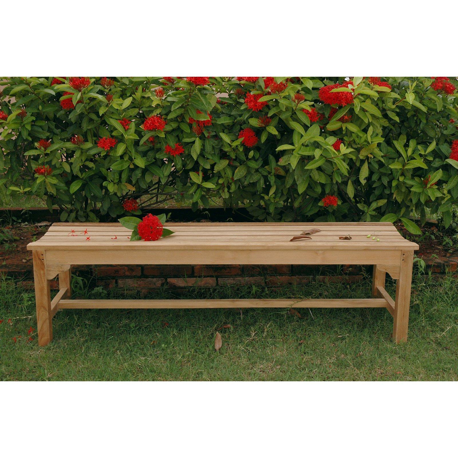 Anderson Teak Hampton 3 Seat 5.25 ft. Backless Outdoor Bench