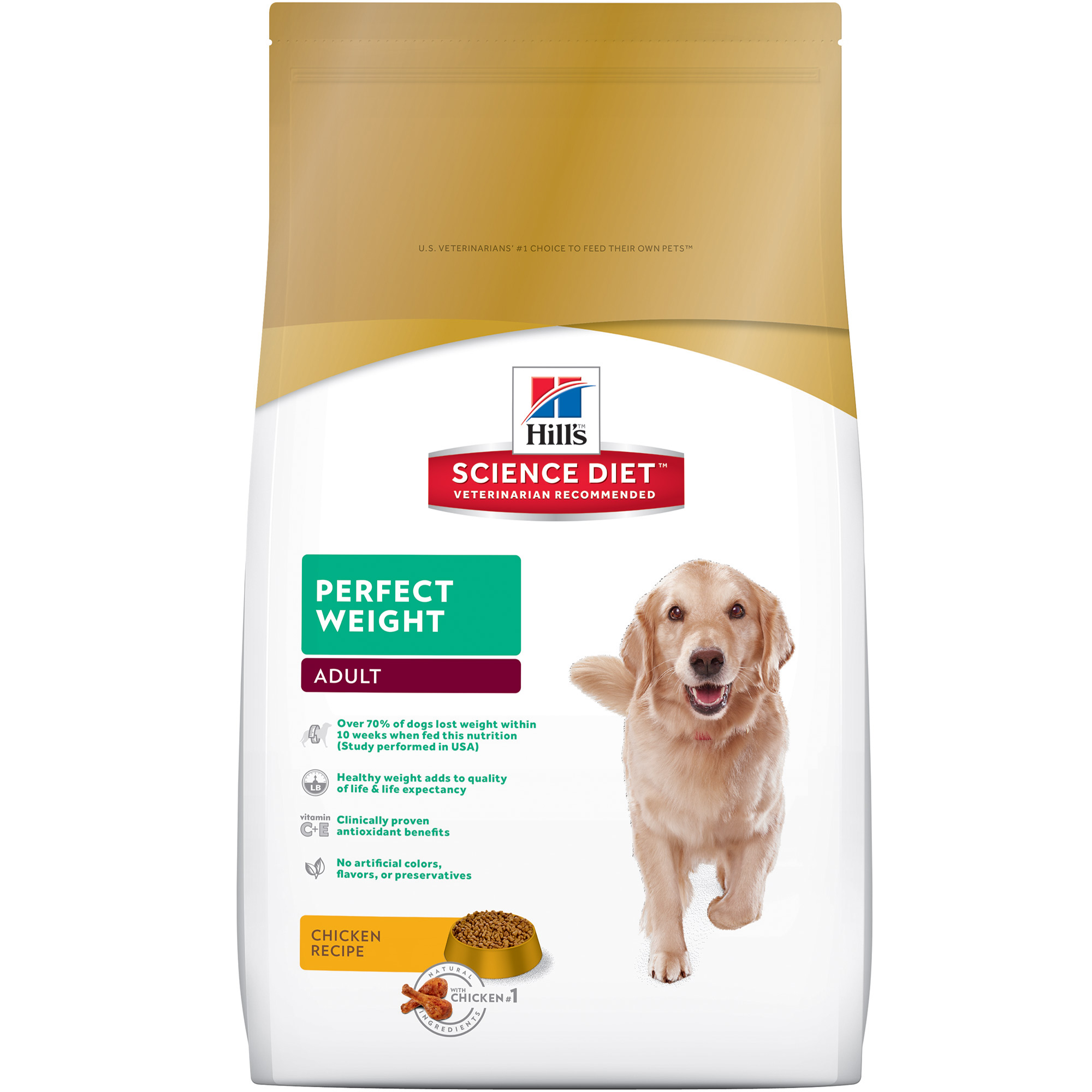 Hill's Science Diet Adult Perfect Weight Chicken Recipe Dry Dog Food, 28.5 lb bag by Hill's Pet Nutrition