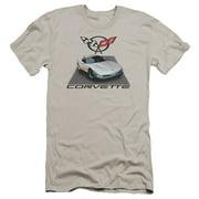 Chevy Silver 01 Vette Mens Premium Slim Fit Shirt