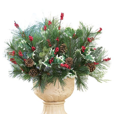 pine and berry christmas floral arrangement picks