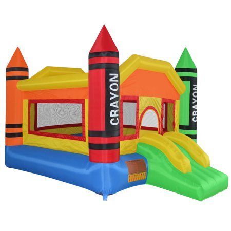 Cloud 9 Mini Crayon Bounce House - Inflatable Bouncing Jumper with Blower - Inflatable Bouncy Horse