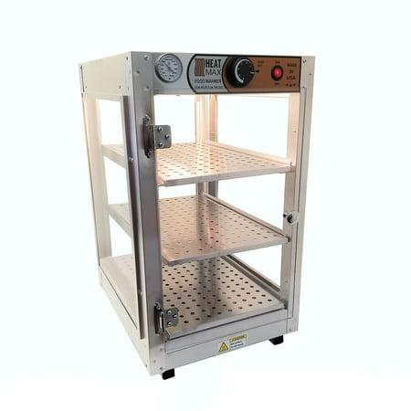 Heatmax Commercial Countertop Food Warmer Display Cabinet Case 14 x 18 x 24 (Heated Countertop Display Cabinet)
