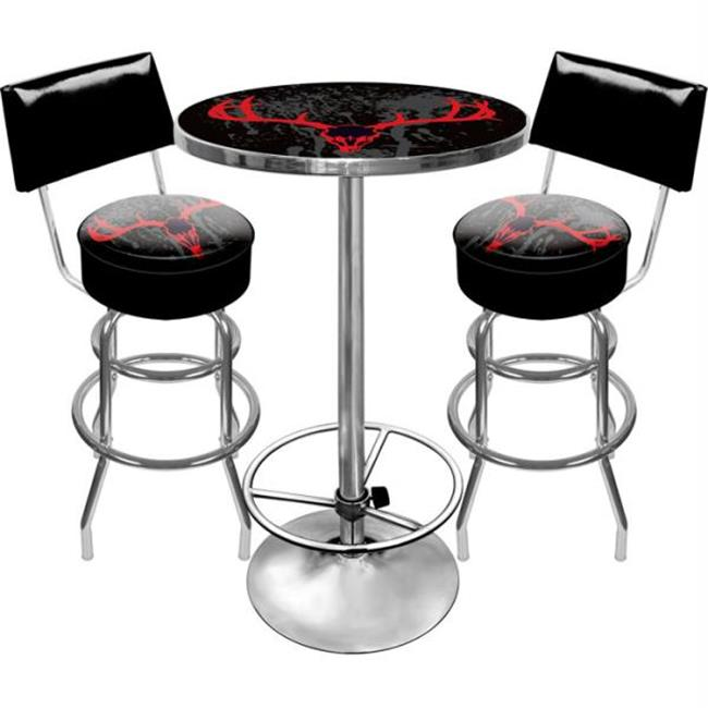 HUNT9900-SK Hunt Skull Gameroom Combo 2 Stools with Back and Table
