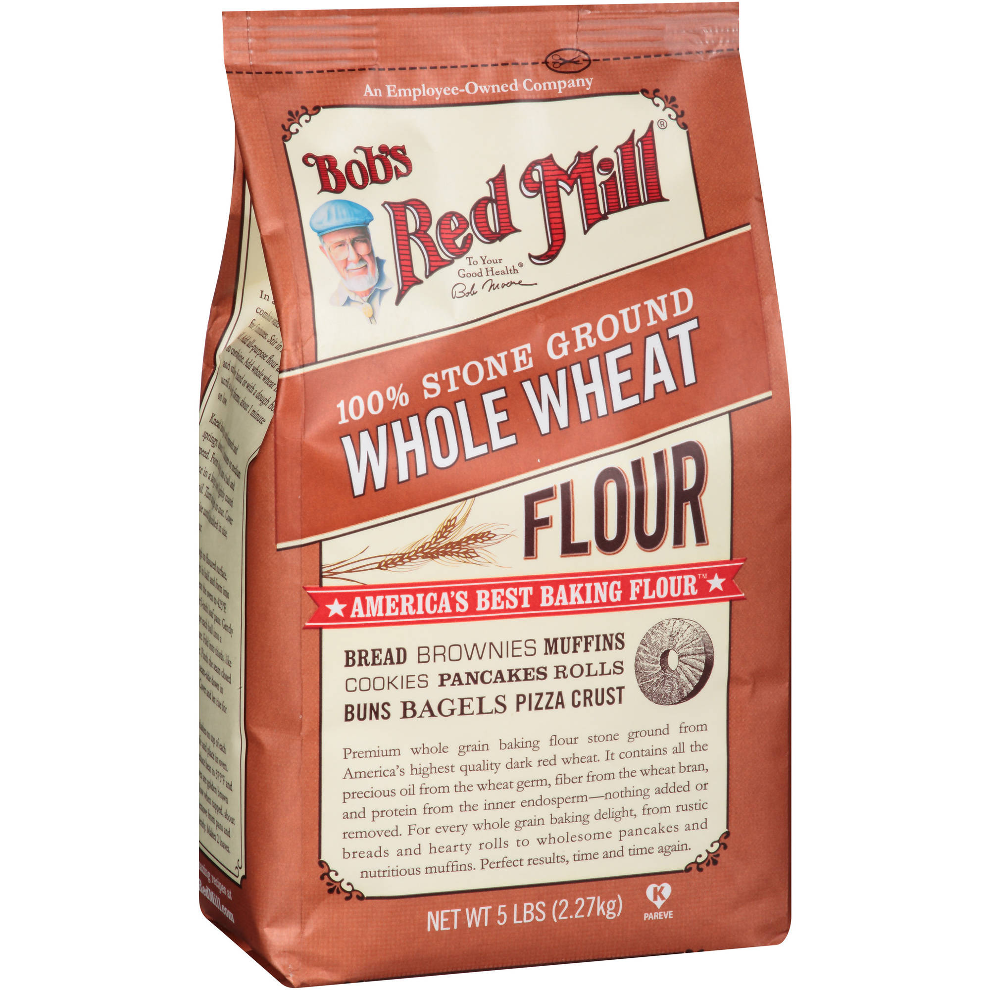 Bob's Red Mill 100% Stone Ground Whole Wheat Flour, 80 oz